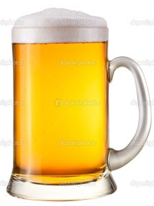 Beer glass on a white background. With Clipping Path.